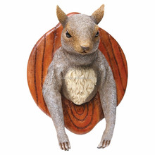 Wall Mounted Squirrel resin statue/Head Funny Hunting Plaque Trophy resin figure