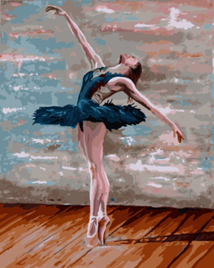 GX8342- 40*50 handmade beautiful sex ballerina oil painting by numbers on canvas