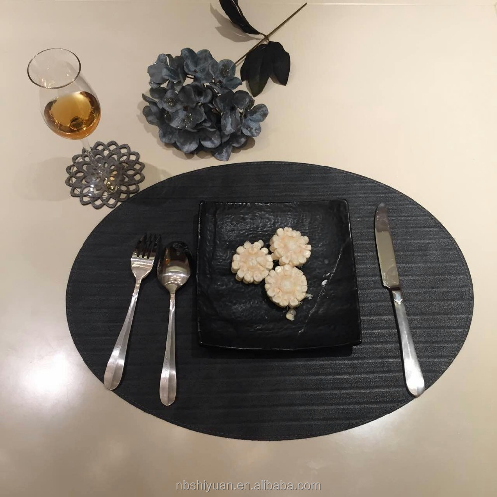 oval PU Leather Table Placemat