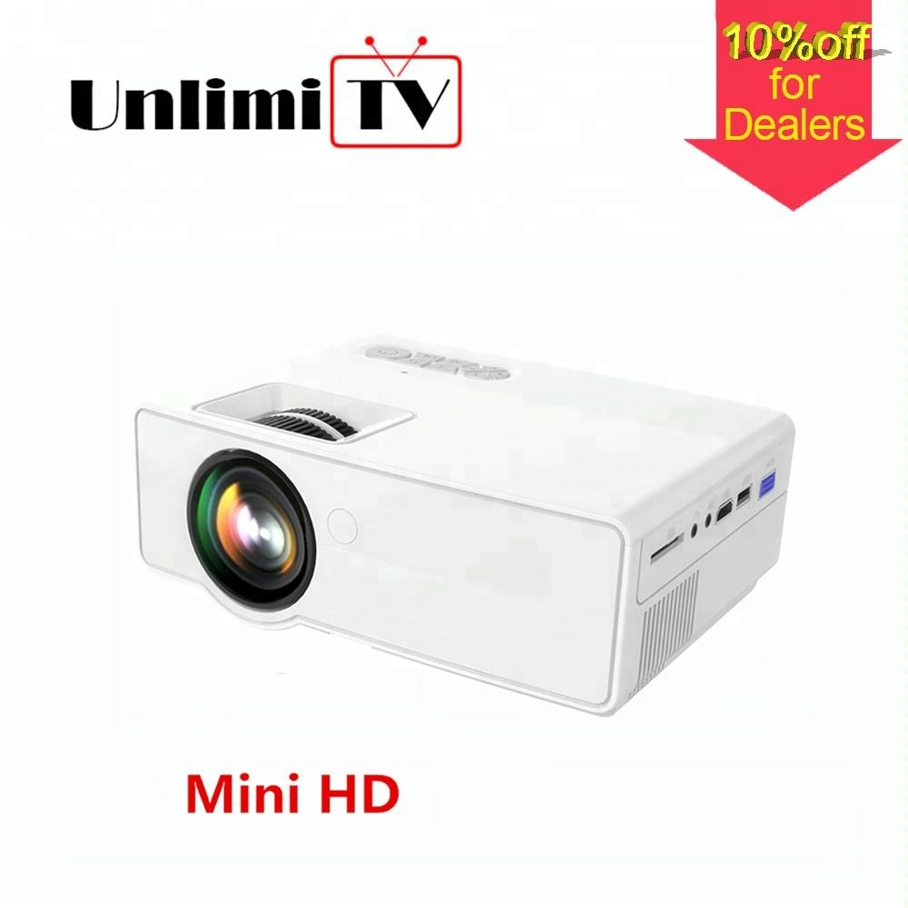 [Newest 2018 beamer] smartphone lcd hd video android mini pico pocket proyector (projector)