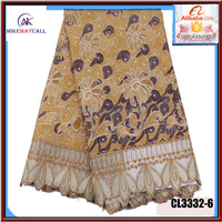 2016 laster design holland Afrixcan wax prints fabric with guipure lace for garment