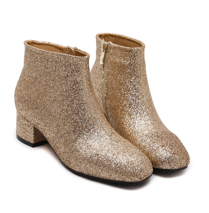 2016 Martin thick heel sequins ankle boots