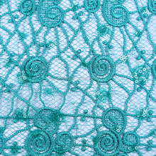Customize Sumptuous Decorate Sequence African Cord Lace Fabric