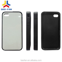 Universal 2D sublimation sheet soft TPU phone case with metal sheet for iphone4/4s