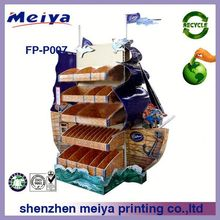 Shenzhen factory meiya strong high quality supermarket chain store promotional paper cardboard pallet display