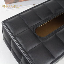 Black Tissue Box Cover Wooden Tissue Box Car Decorative Box