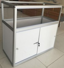 portable aluminium frame glass display cabinet