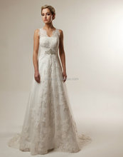 Wedding dress Lace a line wedding gown