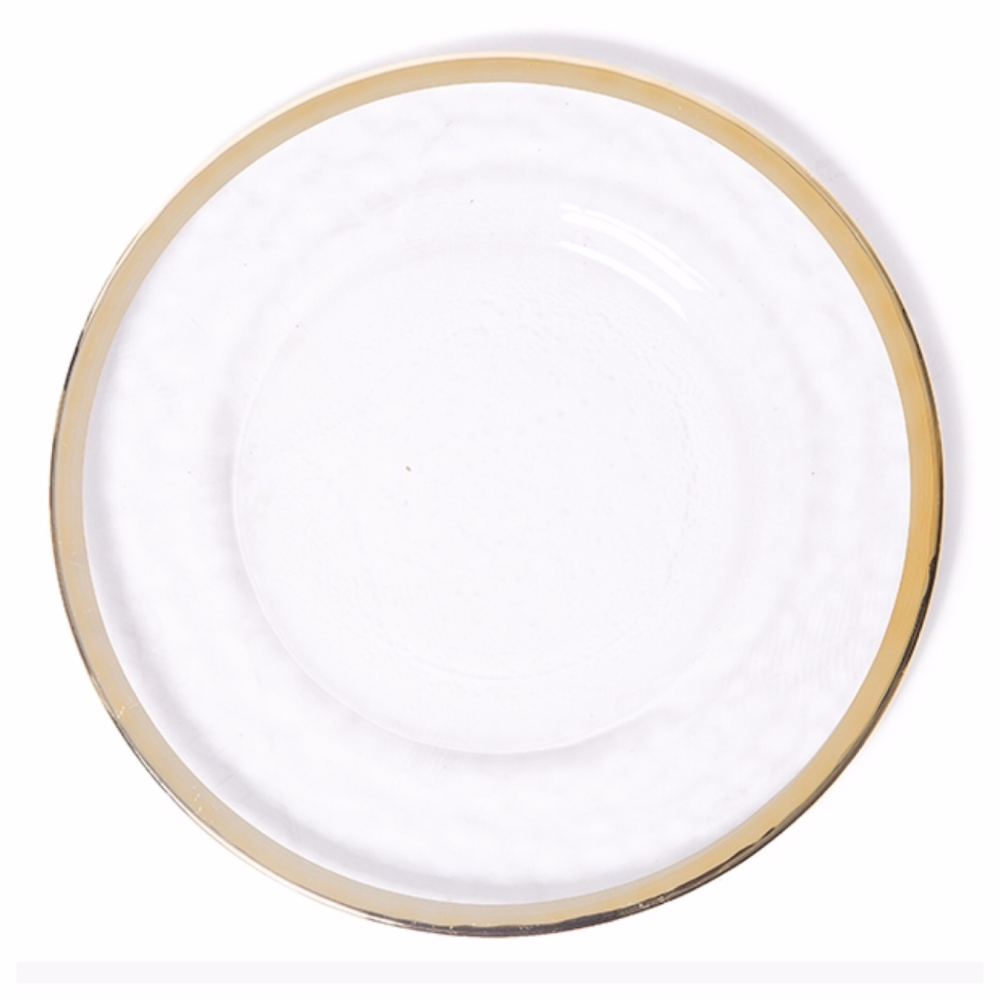 PZ22530 Cheap charger plate gold rim charger plates for wedding event