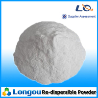 Redispersible emulsible/polymer powder for tile adhesive/glue
