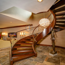 Curved Staircase Modern Wood Staircase Arc Glass Stairs