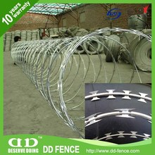 Brand new metal razor barbed wire fence