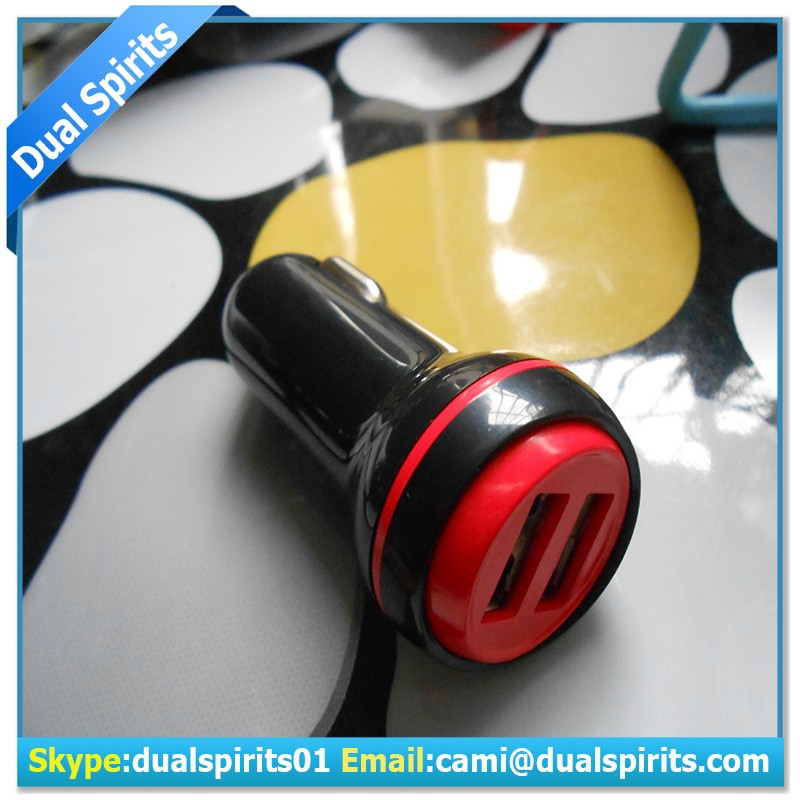 dual usb car adapter/portable charger/for phone charger/ manufacturers&suppliers
