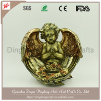Factory OEM Design Resin Figurines Antique Brass Buddha Statue