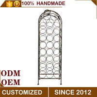 Metal large home and bar storage furniture wine rack