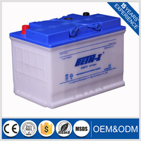 12V Voltage 75AH and Automotive battery DIN Series Type Korean car battery