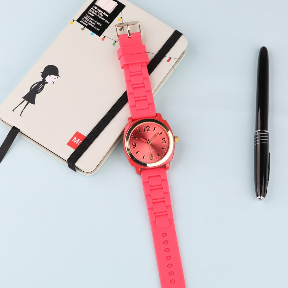 silicone geneva watches for ladies