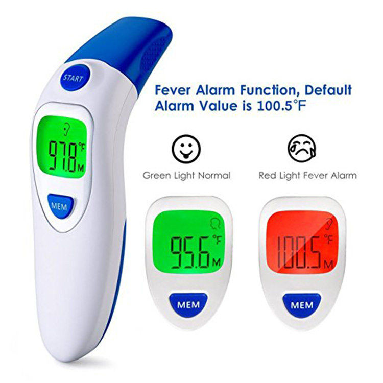 Infrared Ear and forehead Thermometer to Monitor Fever Body Temperature for Baby Infant Kids Adult