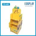 cartoon pattern two sides snacks cardboard display rack