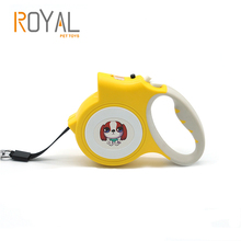 5M Plastic shell Nylon Material Simple Operation Automatic LED Retractable Dog Leash