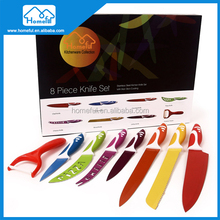 Nice Colorful Non-Stick Cutlery Set 8 Pieces Kitchen Knife Set in Gift Box