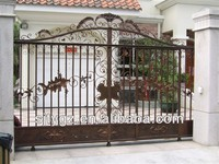 Pipe wrought iron gate,iron house gate grill designs from China