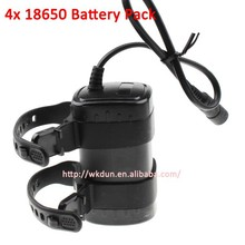 Waterproof 8.4V 6600mAh 4*18650 Rechargeable Battery Pack for led bicycle light