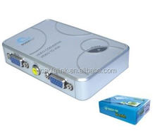 AV TV RCA Composite to VGA Converter S-Video to VGA Converter Adapter