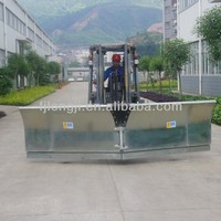 Used forklift attachment hydraulic snow pusher with wheel
