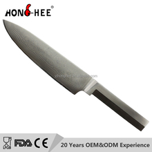 Royal line kitchen knife 8 inch damascus chef knife with fixed blade super steel