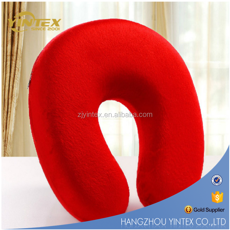 Neck Support U Shaped pillow Rest Car Travel Comfort Pillow Solid 12 Colors Memory Foam Pillow