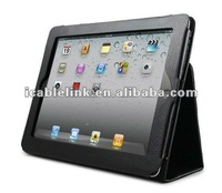 For ipad3 Leather cover case with stand Folio style