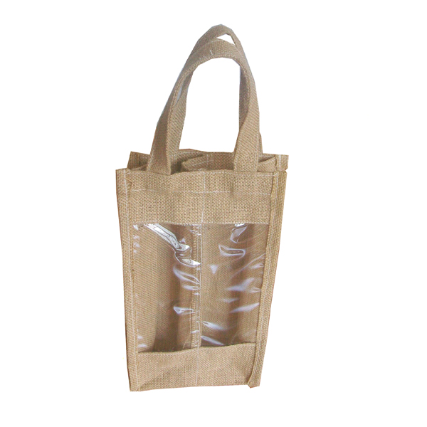 bag bottle wine totes jute