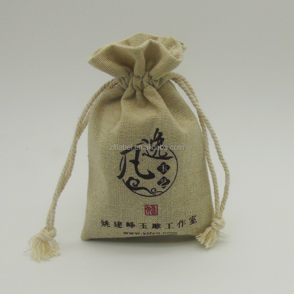 Factory small jute gift bag mini jute bags wholesale jute mesh bags