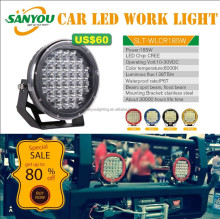 Wholesale 9Inch 185W Round LED Work Light Spot/Flood Beam 4wd Off-road Light 185 watt led driving light