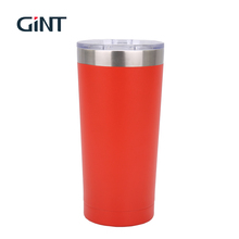 Popular custom stainless steel vacuum double wall travel coffee mug cups and insulated tumblers wholesale with lid straw
