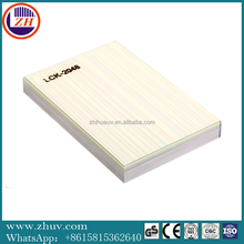 non-woven uv pvc sheet covered Wood Decorative Panel ,High glossy pvc mdf with uv paint