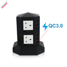 3-way power socket outlet pcb color power strip with USB ports