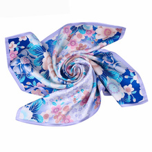 2018 China Supplier Wholesale Fashion 100 Satin Silk Square Scarf, Satin Printed Colorful 100% Silk Scarf