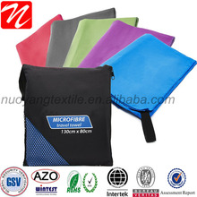 Professional 80% polyester 20% nylon denier fabric ripstop polyester towel with printed logo/microfiber bath towel