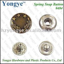 Custom logo Spring snap fastener for jacket