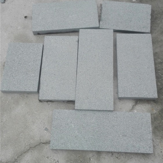 Granite g654 flamed granite floor tiles surface free size