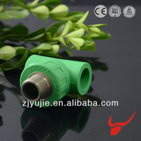 Brand welding machine cast iron pipe fittings test tee ppr male threaded tee