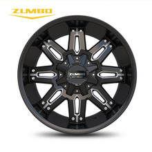 "ZUMBO A0081 Black Milled High performance aftermarket best price 20"" aluminum alloy wheel china alloy wheels"