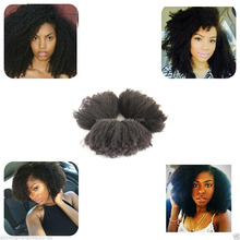 Tight Afro Kinky Curly Hair Weave Curly Human Virgin Hair Extension Weft