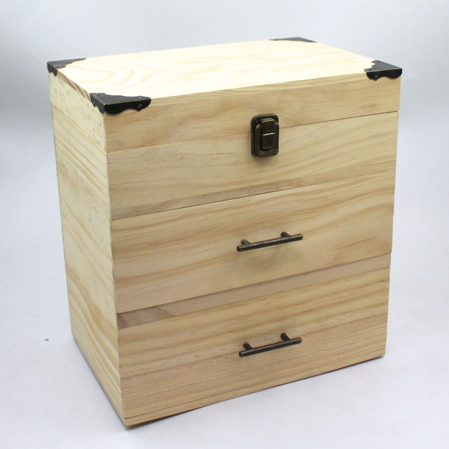 Eco friendly wood cylinder packaging box for essential oil packaging