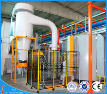 Automatic powder coating plant with digital object detection