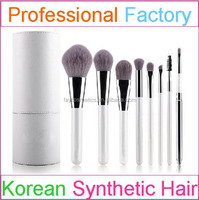 8pcs hot selling synthetic hair makeup brush set with holder