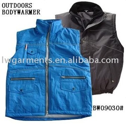 MENS OUTDOOR WORK PADDED BODY WARMER VEST WITH REFLECTIVE