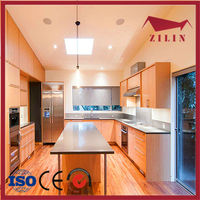 Zilin high quality wood kitchen cabinet vinyl wrap